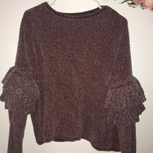 Dusty purple chenille sweater